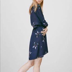 Aritzia Babaton Silk Floral Cuthbert Dress Size S
